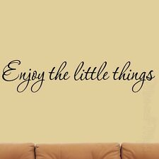 Enjoy the Little Things Wall Decal Inspirational Quotes Home Decor Saying Family