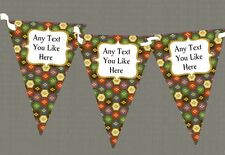 Retro Pattern Personalised Birthday Party Bunting