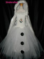 Olaf Disney Frozen (Inspired) Snowman Tutu Dress & Cape Age 2-12 with picture