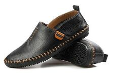 Mens Slip On Driving Moccasin Loafer leather soft Casual Shoes US Size 7-10.5