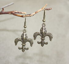 Fleur de lis earrings perfection, light, and life is what they symbolize French
