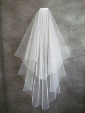 Simple veil 2T Wedding Bridal Veil White/Ivory Wrist length veil AccessoriesComb