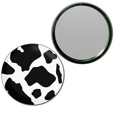 Cow Pattern - Round Compact Glass Mirror 55mm/77mm BadgeBeast