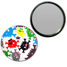 Skull Bow Pattern 3 - Round Compact Glass Mirror 55mm/77mm BadgeBeast