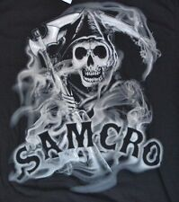 Sons of Anarchy Reaper LOGO with Smoke Adult Men's T-Shirt Officially Licensed