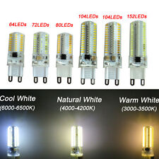 1x G9 64/72/80/104/152 3014 SMD LED Light Corn Bulb Silicone Lamp Natural White