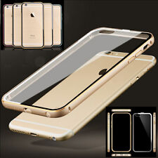 Luxury Aluminum Metal Frame + Acrylic Back Case Cover For iphone 5 5S 6 /6 Plus