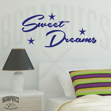 Sweet Dreams Wall Art Sticker quote with Stars, Bedroom Vinyl Wall Stickers