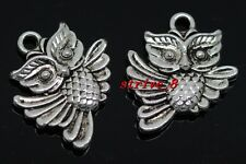 40/240pcs exquisite Tibet silver two-sided owl Charms pendant DIY 20x17mm