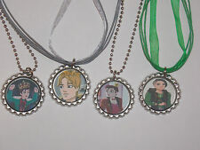 Ever After High Prince Bottle Cap Necklaces with Ribbon Chains,  Party Favors