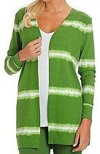 NEW - OSO Casuals Tie-Dyed Open Front Cardigan - SZ SMALL