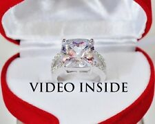 Excellent 4.Carat Engagement Ring Wedding Diamond Ring Platinum Made in italy dg