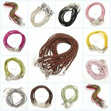 Wholesale 5/10/100pcs Man-made Leather Braid Rope Hemp Necklace 3mm Craft diy