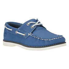 Timberland Youth Earthkeepers 1487 A Seabury Classic 2-Eye Blue Boat Kids Shoes