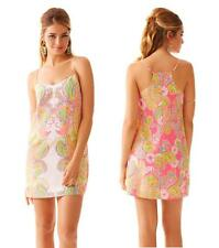 LILLY PULITZER DUSK STRAPPY SILK SLIP DRESS Hotty Pink Double Trouble Engineered