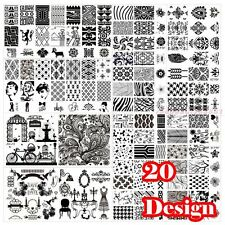 Nail Art Metal Flower Decor Image Stamping Plate DIY Manicure Template 20 Choice