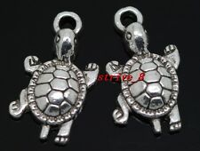 Lots 40/240pcs Tibetan silver turtle Jewelry Finding Charms pendant DIY 23x12mm