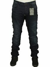 MENS JEANS FORAY CONCEDE IN DARK WASH COLOUR STRAIGHT LEG RRP £49.99