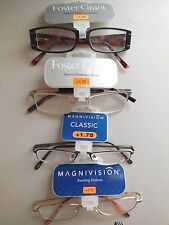 Foster Grant Ladies Handcrafted Fun Frames Reading Glasses +1.75 Lot of 4 Pairs
