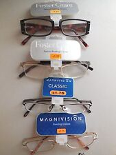Lot of 4 Pairs +1.75 Foster Grant Ladies Handcrafted Fun Frames Reading Glasses