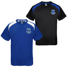 Everton Football Club Official Soccer Gift Boys Poly Training Kit T-Shirt