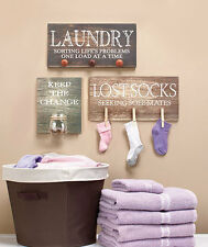 Laundry Room Wall Hangings Laundry Keep the Change Jar Lost Socks NEW