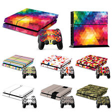 Skin Sticker Decal For Sony PS4 PlayStation 4 Console + 2 x Controller Covers