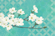 Dogwood Blossoms KL by Kathrine Lovell Floral Art Paper or Canvas Print