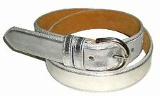 "5549 - 1.25"" WIDE SILVER LEATHER DRESS BELT FOR LADIES & FREE US SHIPPING"