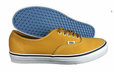 VANS. Authentic. Brushed Twill. Yellow. Leather Laces. Mens US Size 11.