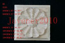 5*5 15*15cm Wood Carved Square Onlay Applique Unpainted Frame Furniture Door H3