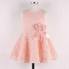Sweet Cute Girl Baby Lace Dress Kids Toddler Flower Princess Wedding Party Dress