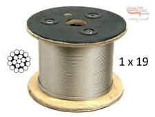 Marine Grade Stainless Steel Wire G316 Wire Balustrade Cable Rope 3.2 mm  1x19