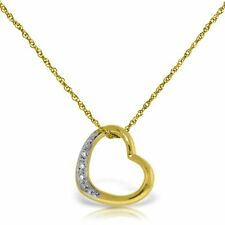 Genuine .03 ctw G-H Diamonds Heart Pendant Necklace 14K Yellow, White, Rose Gold