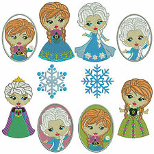* SNOW PRINCESS * Machine Embroidery Patterns * 10 designs, 3 sizes
