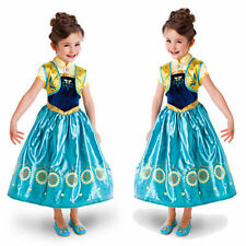 Frozen Fever Princess Anna Elsa Girls Fancy Dress Costume Party Age 3-9