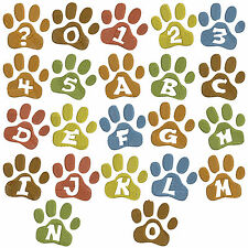 Paw Print Font * Machine Embroidery Patterns * 39 designs 1 & 2in
