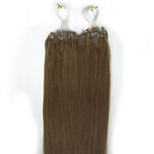 "18"" Indian Remy Premier Loop Micro Ring 100% Extension Con Capelli Veri AAA UK"