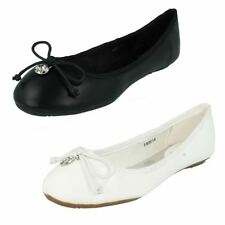 Ladies Spot On Ballerina Flat Shoes Style - F80014
