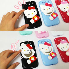 Hello Kitty iPhone 5/5s/4/4s Case Mirror Cover Silicone Case Made Korea 6Colors