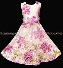 Girls purple & white floral party pageant dress age guide 5 to 6 years SD148-XXL