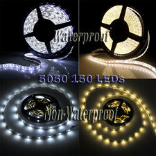 New 5050 5M Cool White / Warm White 150 LED SMD Flexible Strip Light DC 12V US