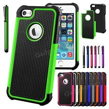 Hybrid Shockproof Hard Rugged Heavy Duty Cover Case For APPLE iPhone 5 5S