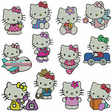 * KITTY * Machine Embroidery Patterns * 12 designs in 3 sizes