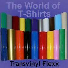 "Heat Transfer Vinyl IRON-ON For any Cutter Ecofilm Tshirts - 10"" x 5 Foot Roll"