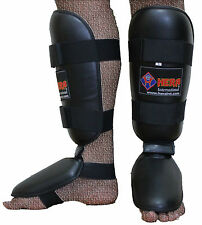 Gel Shin Instep Foot Pads MMA UFC Leg Kick Guards Muay Thai Boxing Training