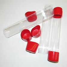 """Clear Plastic Mailing Packaging Shipping Tubes 8-3/4"""" x 1-1/2"""""""