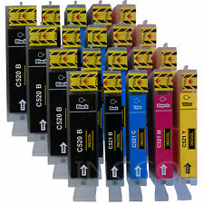 20 compatible non-OEM PGI-520 / CLI-521 ink cartridges for CANON printers.