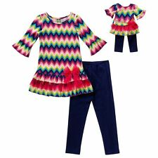 Dollie & Me Girl 7-14 and Doll Matching Top Legging Outfit Clothes American Girl