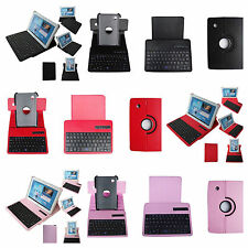 Samsung Galaxy Tab 3 10.1 P5200 P5210 360 Leather Case Bluetooth Keyboard New